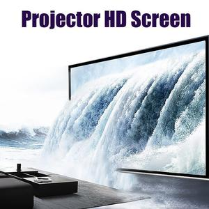 """120"""" 16:9 Projector Projection Portable Screen Matte White Pull Down Home Movie"""