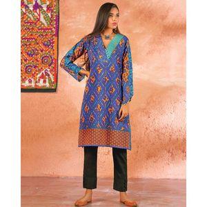 Bonanza | Satrangi Blue Lawn Unstitched Suit For Women - 1 Piece - Bc17Sp-21