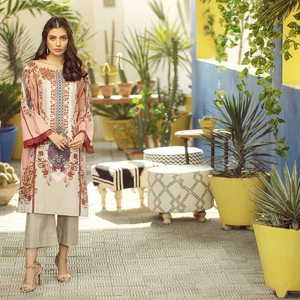 Alkaram studio Spring Summer Collection 2020 Vol I Light Pink Lawn 2 Piece Suit For Women -A132225661