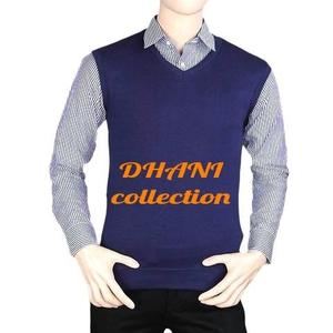 Men's Navy Blue Sleeveless Sweater (Winter collection)