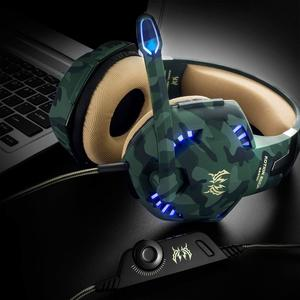 Stereo Gaming LED Lighting Over-Ear Noise Cancelling Headphone Headset Headband with Mic & Volume Control for PC Computer