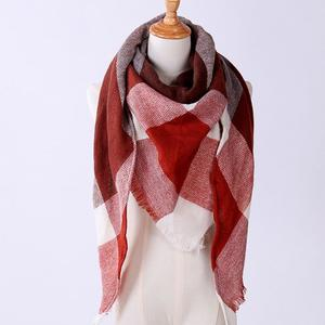 MissFortune Women Shawl Cashmere Autumn Plaid Wool Scarves Scarf