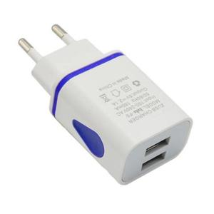 LED USB 2 Ports Wall Home Travel AC Smart Charger Adapter US/EU Plug Universal