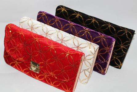 1 x Women Hand Bag Wallet Ladies Clutch Four Colors