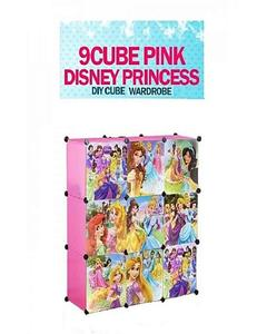 9 Cube Princess Storage Cabinet & Wardrobe For Kids With Hanging Rod