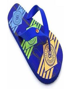 Blue Rubber Slippers For Men