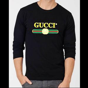 GUCCHI BLACK FULL SELEEVE T   SHIRT     For New Winter Collection