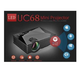 UNIC UC68 Original Projector 1800 Lumens 80 ANSI Multimedia Home Theatre HD 1080p Built-in HIFI Speaker Home Entertainment