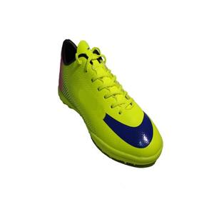 Yellow Rexine Football Shoes For Men