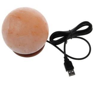 Natural Himalayan Round Shape Air Purifier Mini USB Rock Salt Lamp