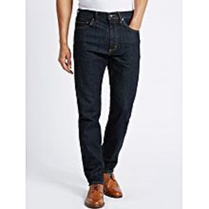 The Ajmery Navy Blue Tapered Fit Mid-Rise Stretchable Jeans - JNS-1011