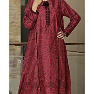 AlmirahRed Lawn Stitched Kurti For Women AL-LK-567/ALP-293A
