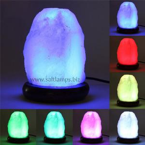 Color Changing Natural Shape Salt Lamp with USB cord
