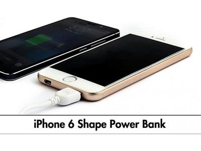 IPhone 6  Shape Power Bank - 10000mAH Power Bank For All Mobiles - with polymer fast charging battery