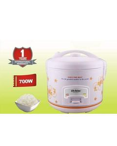 Life Relax LR - 601 Electric Rice & Pressure Cooker - 700 Watts - 4 Liter - White (Brand Warranty)