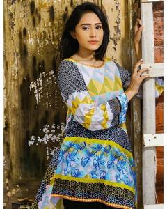 Multicolor Pure Printed Lawn Unstiched Shirt For Women