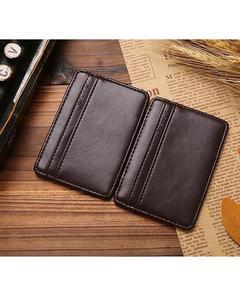 Dark Brown Pure Leather Magic Flip Wallet