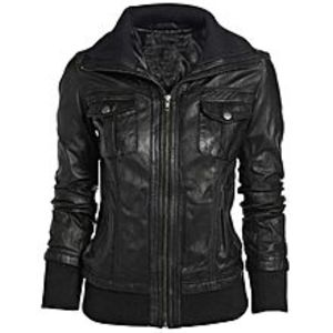 TASHCO ClothingBlack Faux Leather Jacket High Quality