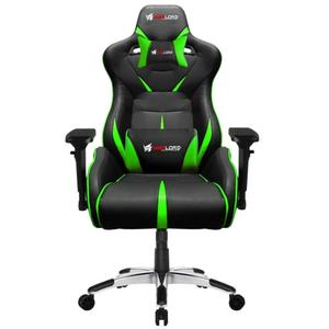 Warlord Templar Gaming Chair - Black/Green