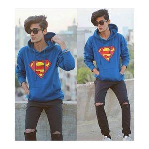 Blue Superman Printed Hoodie. GNL-KH17