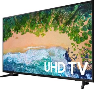 """Samsung 43"""" Inch UHD 4k Led Flat Smart Tv Double Glass-Black All Android features included with Free 32gb USB & Wall-Mount (1 Year Circuit Repairing Warranty All pakistan)"""
