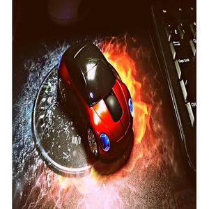 2.4GHz 3D Car Shaped Optical Wireless Mouse - Red