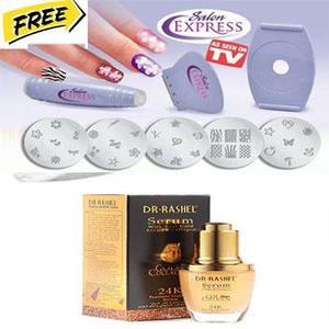 rizing Serum Acne Treatment Whitening Face Ageless Skin Care & Salon Express Beauty Nail Art Stamping Kit For Women Free - Ladies Bazaar