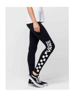 Black Vans Printed Gym Tights For Women By T-Shirts & Tops