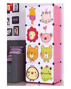 8 Cube Storage Cabinet & Wardrobe For Kids - Multicolour
