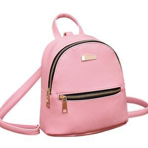 MissFortune Women Leather Backpack School Rucksack College Shoulder Satchel Travel Bag