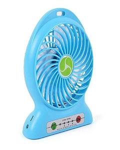 Mini Portable Rechargeable Plastic USB Fan With Power Bank