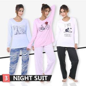 Pack Of 3 Printed T Shirt Pajama