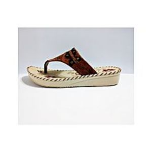 Deluxe Footwear Brown Slippers For Women