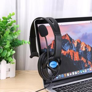 Meeting Love 3.5mm Wired Gaming Headset Single Side Speaker Headphones with Mic For PS4