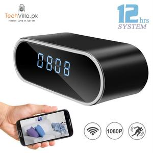 Table Clock WiFi Camera 1080P Video Recorder for Indoor Home Security