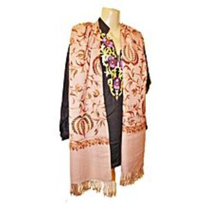 Actral Stylish Embroidery Kashmiri Shawl For Amazing Women (Wool +Cotton)