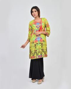 Mughal Beats Printed Stitched Kurta For Women
