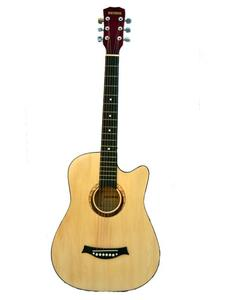 Victoria Semi Acoustic Guitar 39'' with 4 band EQ- Beige