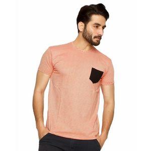 Red Cotton Stripe T-Shirt For Men