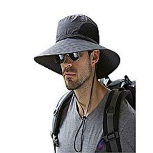 Best fashionSummer Outdoor Safari Bucket Sun Hat - Black