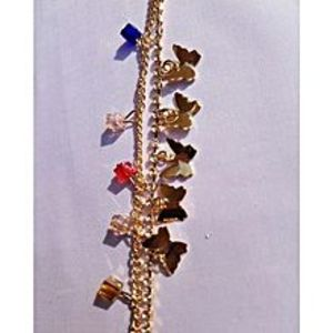 Darojay Golden Zircon Studded Anklet For Women