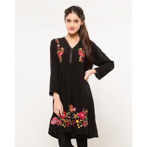 9d15dfc7fc5 Danraj Store Summer Collection 2019 Black Akhrot Cotton Kurti For Womens