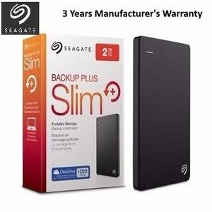 Seagate STDR2000300 - Backup Plus Slim 2TB Portable External Hard Drive - USB 3.0 - Black