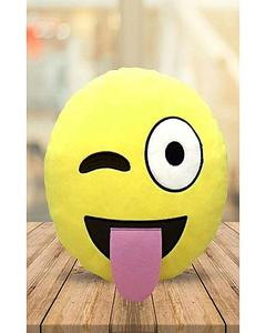 Emoji Emoticon Yellow Round Cushion Stuffed Pillow Plush Soft Toys Decor FB-0068