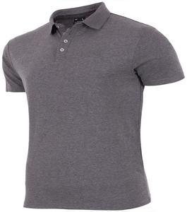 Grey Fleece Polo Shirt For Men