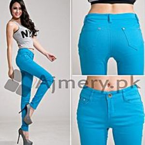 The Ajmery Women's Turquoise Blue Skinny Jeans
