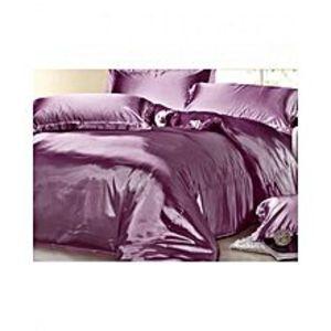 My Home StorePurple Silk bedsheet Set - S-09