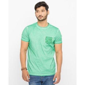 Mid Green Cotton Vintage Graphic Tshirt For Men