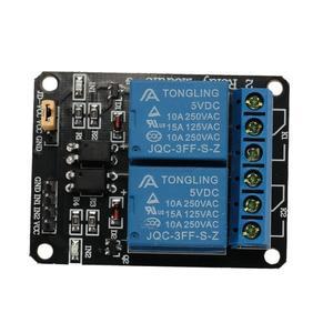 Amazing    1pcs 5V 2CH Relay Module Shield Board for Arduino ARM AVR MSP430 8051 DSP