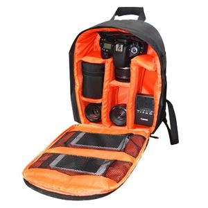INDEPMAN DL-B012 Portable Outdoor Sports Backpack Camera Bag for GoPro, SJCAM, Nikon, Canon, Xiaomi Xiaoyi YI, Size: 27.5 * 12.5 * 34 cm(Orange)